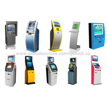 China Wall mounted touchscreen self-service cash payment machine
