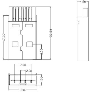 Usb Male To Wiring Diagram on