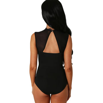a4bfa9f406 China Sexy Lace High Neck Cut Out Back Bodysuit Lingerie