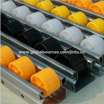 China Gravity Flow Rail Roller Track/Storage Rack Roller Track