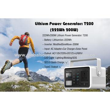 China Off Grid Portable Solar Power Generator 200W AC