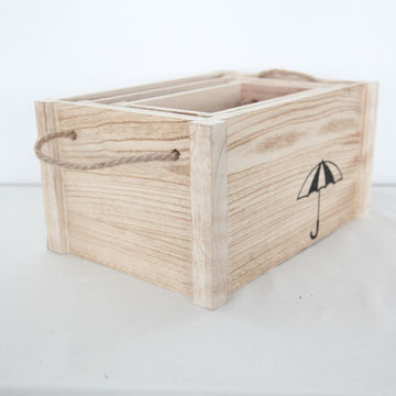 China Wooden storage boxes, made of wood without lid ...