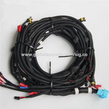 china auto relay socket wire harnes/automobile fan wire harness kits