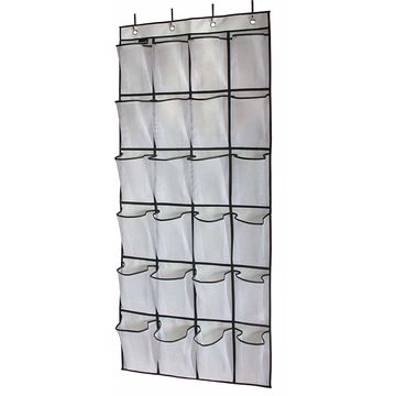 China 24 Pockets Crystal Clear Over The Door Hanging Shoe Organizer