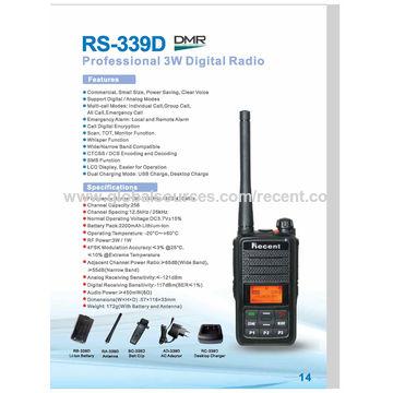 China DMR Digital Two-way Radio with TDMA Format, Dual Slot