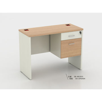 China Hot sales simple design wooden office desk, MFC smooth