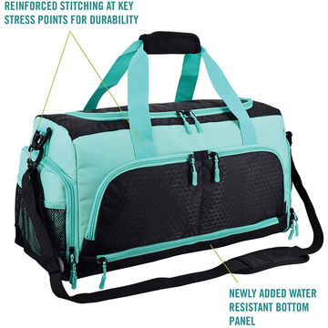 4d076973fd7fa2 ... China Water Resistant Pouch Gym Bag The Durable Designed Duffel Bag  with Shoe Compartment for Girl ...
