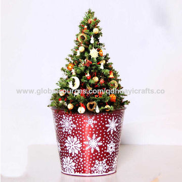 Christmas Flower Pots.China Garden Buckets Garden Pots Iron Sheet Material With