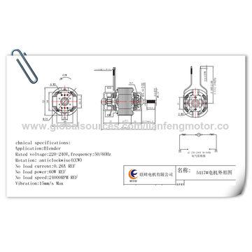 Full Copper AC motor with 16P Commutator High RPM