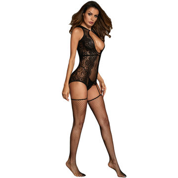 3d44388022b ... China Hot Sexy Hollow-out Floral Netted Mature Nylon Bodystocking ...