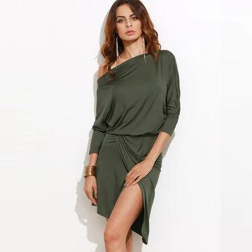 1bce82c66c5e China Basic Long Sleeve Blank Cotton Women T-shirt Dress on Global ...