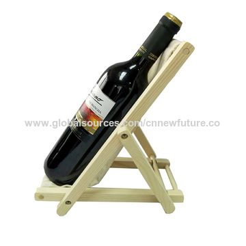 China Wooden Single Wine Bottle Display Stand