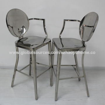 China Modern Clear Acrylic Bar Stools With Cushion On Global Sources