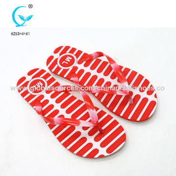 ecd17a43453 ... China Pcu and pvc flip flop slipper with own logo eva slipper ...