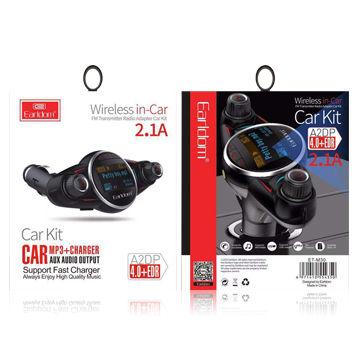 China FM transmitter bluetooth receiver for car long range mp3