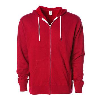b67abaf9e8e China Men Custom Blank Red Zip Up Plain Fleece Hoodie Sweatshirt ...