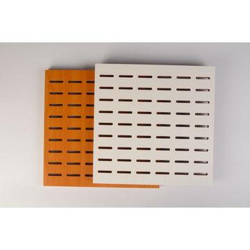 China Wood curved veneer / melamine eco friendly perforated