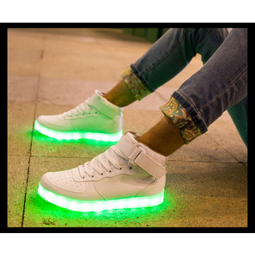 ... China Factory Price Colourful USB Rechargeable High Top LED Light Shoes  Casual Shoes for Kids and ... 7b552840ec86