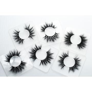 China 2018 wholesale 19-22mm 3D mink eyelashes, Crystal box,real
