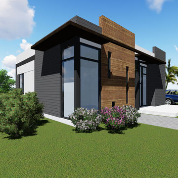 China Low Cost Steel Structure Frame Modular Houses For