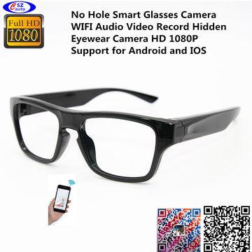 b73d726eba4 ... China No Hole Smart Glasses Camera WIFI Audio Video Record Hidden  Eyewear Camera HD 1080P Support ...