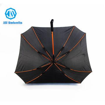 bd13282f05e34 ... China Straight auto open pongee square umbrella,Black windproof folder  umbrella ...