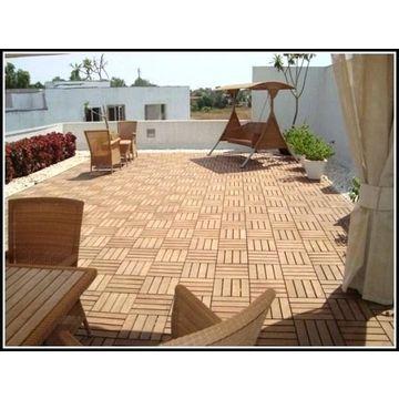 Vietnam Deck Tile For Courtyard Patio Flooring Interlocking Wood Tiles Outdoor Porch