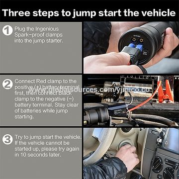 China 6 in 1 Car Jump Starter Torch with Safety Alarm and