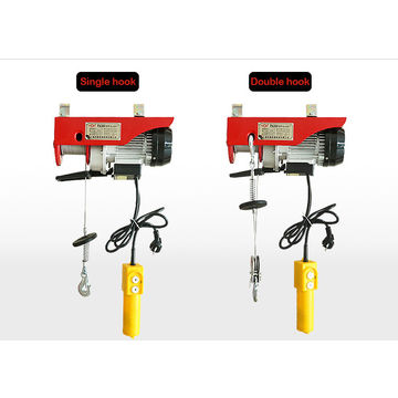 china small pa600 micro electric wire rope hoist single double hook  220v