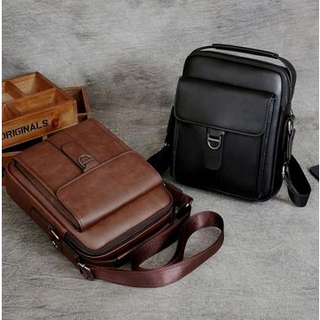 14ac5429e7 ... China Men s Business with Magnetic Buckle Open Messenger Bag Large  Capacity Soft PU Leather ...