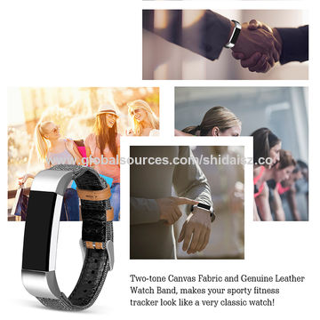 China For Fitbit Alta/Alta HR Bands, Soft Classic Canvas