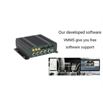 China 4 Channel SD Card Mobile DVR 3G/4G GPS WIFI Linux OS 2CH Alarm