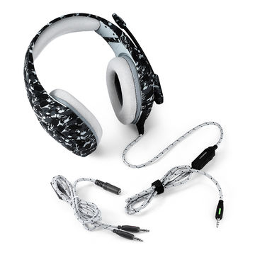China 35mm Fortnite Camouflage Gaming Headphones With Mic