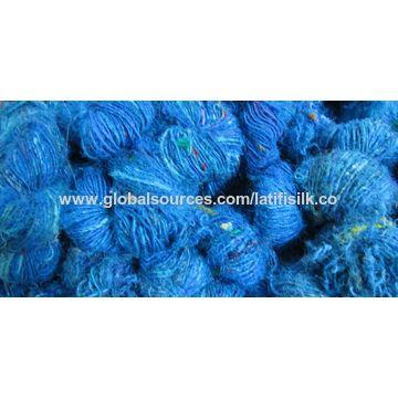 India Recycle sari silk yarn on Global Sources