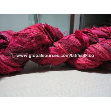 India Recycle Sari Silk Ribbon Yarn on Global Sources