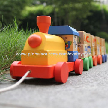 China Best Selling Wooden ABC Train Toy with Blocks, Unit