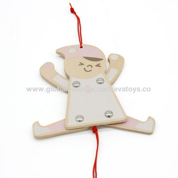 China New hottest play string wooden marionette puppet for