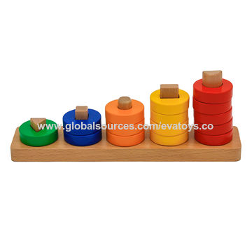 China New Arrival Baby Wooden Stackable Toys For Education W13d205