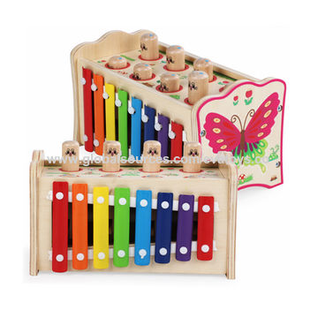 China New Arrivals Educational Wooden Hammer And Peg Toy For Kids