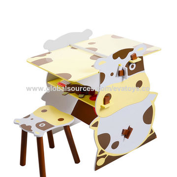 China 2018 New Design Giraffe Modeling Wooden Activity Table Chair