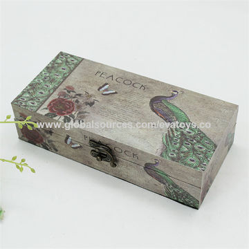 China Wooden Gift Boxes Bike Pattern Top Sale Small Box For Storage