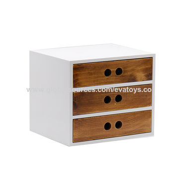 Wooden White Drawers