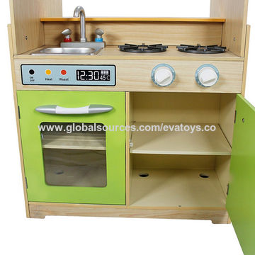China 2017 new design grand double sided wooden kids kitchen ...
