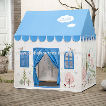 Indoor Or Outdoor Children S Pretend Playhouse Cottage Tent House For Kids W08l001