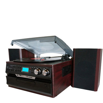 China High end vinyl record turntable player with CD