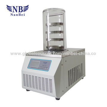 China Lab scale vacuum freeze drying equipment with LCD