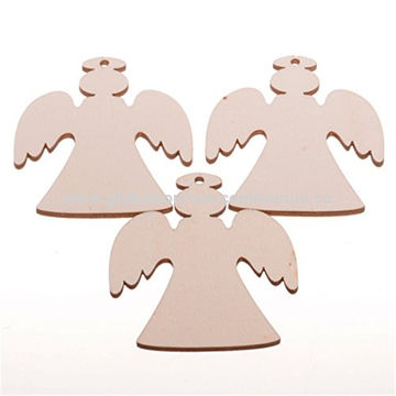 Miniature Christmas Ornaments.Wooden Angel Miniature Christmas Ornaments