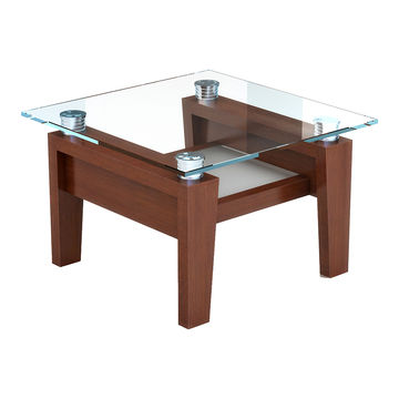 China Modern Coffee Table With Solid Wood Leg Glass Top On Global