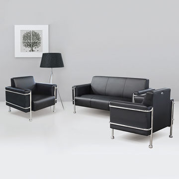 China Modern Black Style Leather Sectional Leather Office ...