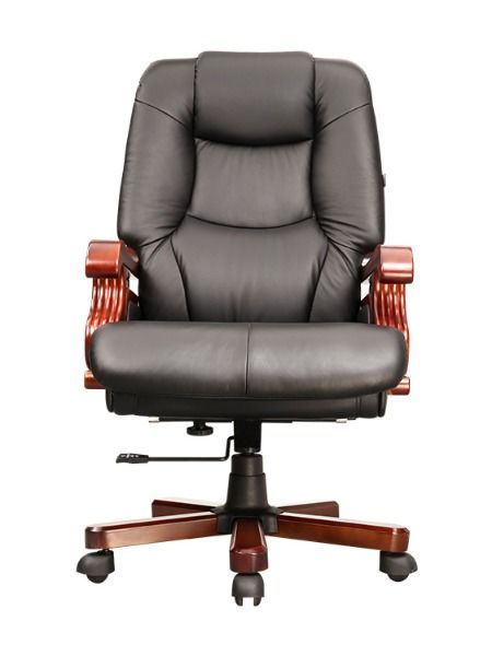 China Popular Luxury Wooden Armrest Genuine Leather Swivel Office Executive Boss Chair On Global Sources Black Leather Computer Chair Comfortable Office Chair Office Chair